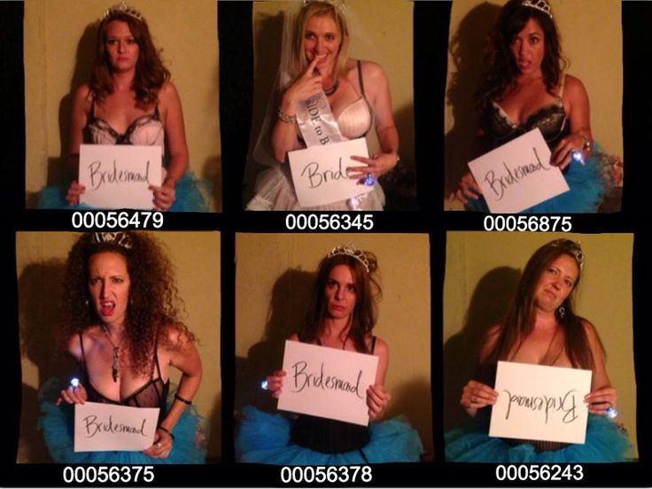 I took everyone's picture at the end of the night of the bachelorette party! Loved this idea, turned out GREAT!
