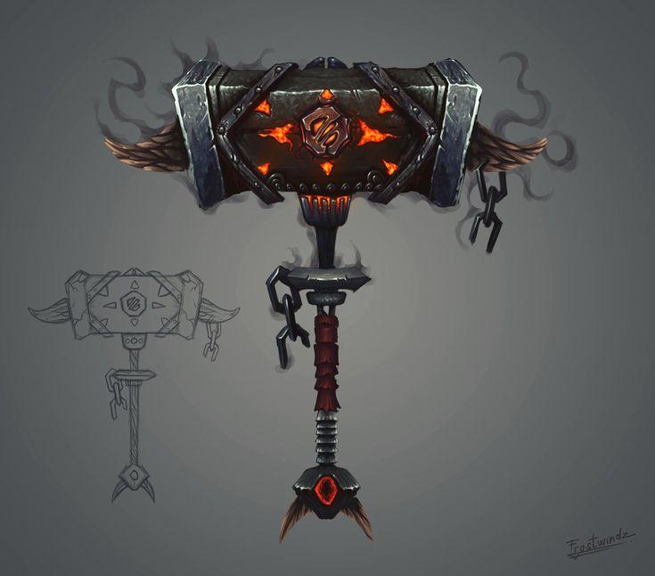 Fantasy Hammer Concept Art by Frostwindz
