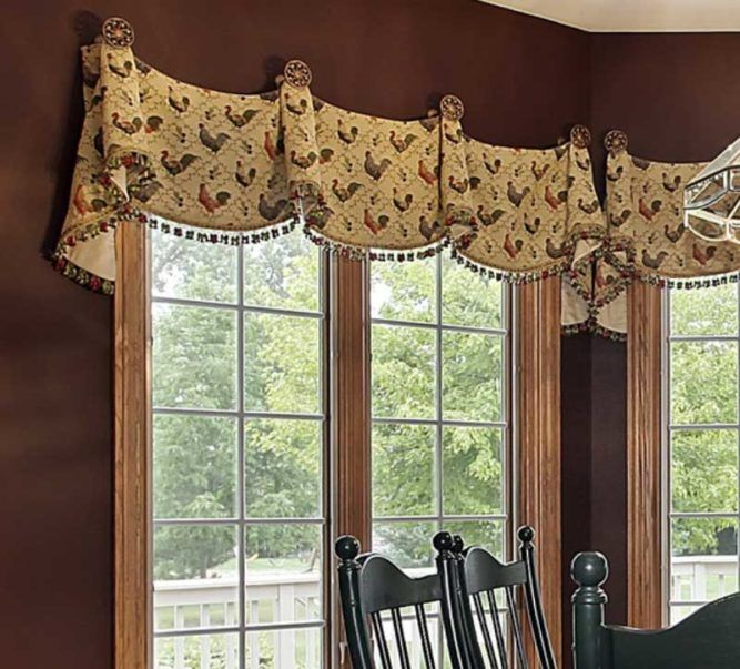 16 French Country Valance Ideas To Inspire You Bow Window