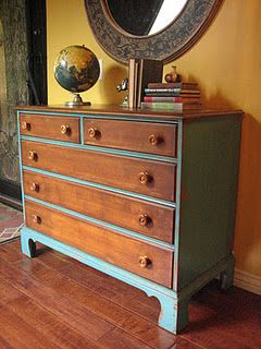 Diffe Take On Updating An Old Dresser Leave Drawer Faces Original And Paint The Rest Furniture Pieces Pinterest Drawers Face