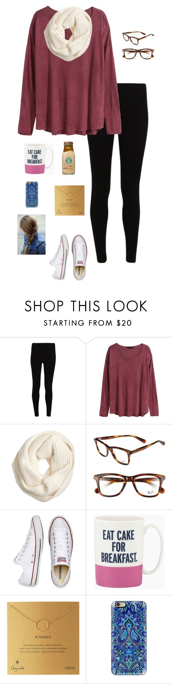 """""""I is for Infinity scarves!!"""" by gabbbsss ❤ liked on Polyvore featuring H&M, J.Crew, Ray-Ban, Converse, Kate Spade, Dogeared and Casetify"""
