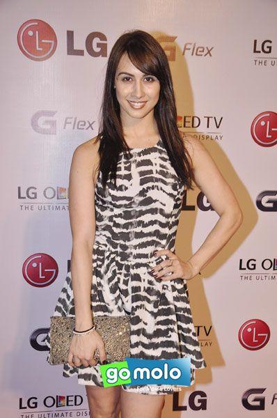 Lauren Gottlieb at the Launch of LG G Flex smartphone in Mumbai