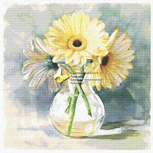 GerberasLemon Sherbert Gerbera (cross stitch, вышивка крестом) - Analia Gabriela Frola - Picasa Web Albums