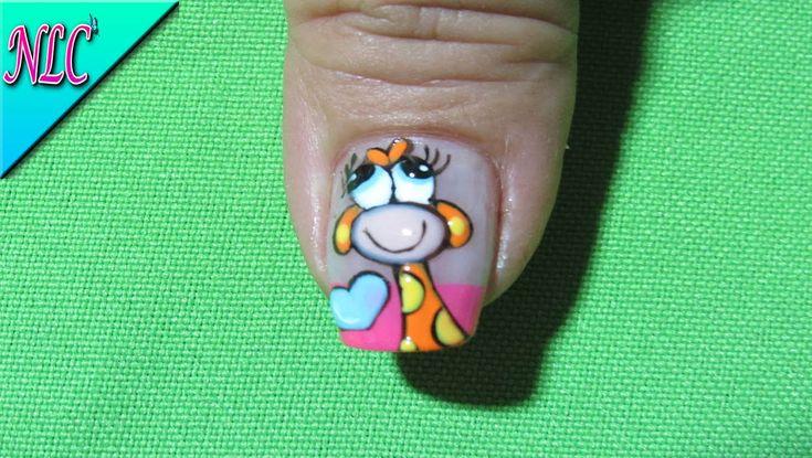 Decoración De Uñas Jirafa - Giraffe nail art - NLC
