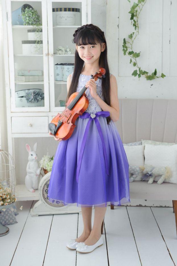 子供ドレス ピアノ発表会ドレス 3-322(140cm) パープル