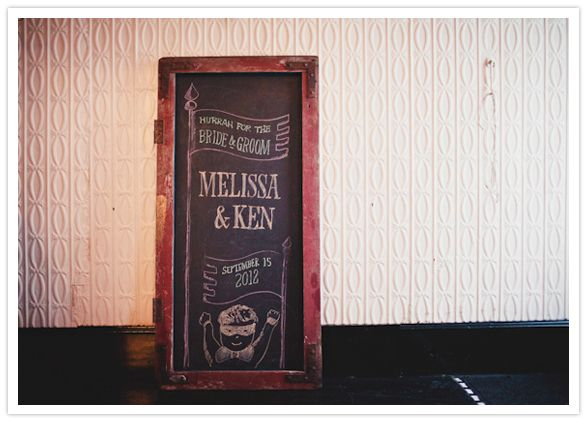 chalkboard sign in a cupboard frame, sweet illustration too