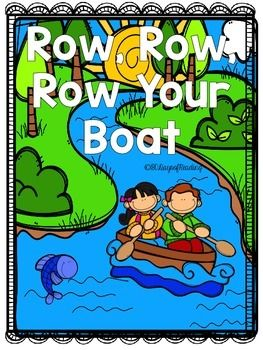 Lots of activities to go with the Nursery Rhyme Row, Row, Row, Your Boat. Great for those first days of school before you get into your Reading Program.  Activities for Short Vowels, Letter Recognition, First Sounds and Ending Sounds, Segmenting, Blending, Sequencing, Comprehension, Fluency, and Writing are included.