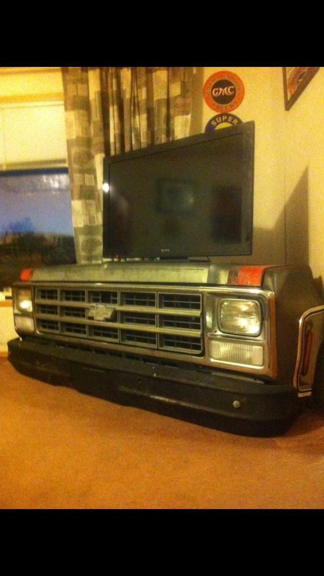 Chevy Truck Tv Stand Garage Ideas Man Cave Workshop