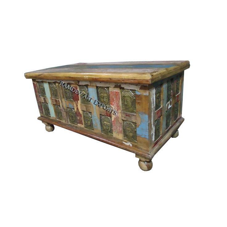 Vintage Indian Buddha Box | Indian Vintage Indian Buddha Box | Reclaimed Vintage Indian Buddha Box | Rustic Vintage Indian Buddha Box | Vintage Indian Box