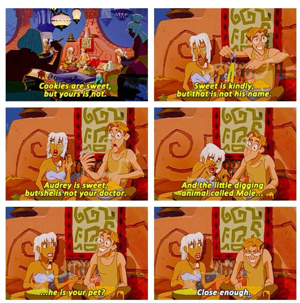 Princess Kida and Milo in Disney Atlantis: The Lost Empire quote