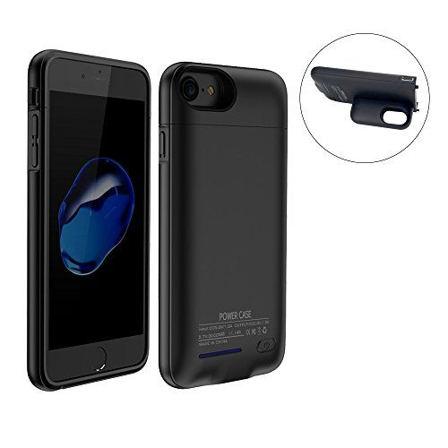 "Battery Charger Case - Black 4.7"" iPhone 7 - 6 -6S  http://topcellulardeals.com/product/battery-charger-case/?attribute_pa_color=black-4-7-iphone-7-6-6s  MAGNETIC BRACKET: the top cover can be worked as Magnetic bracket Cell Phone Car Mount Holder Smartphone Stand for iPhones, Tablets, Home, Office, Kitchen, Installs on Any Flat Surface Universal. LATEST UPDATE: Indmird battery case is made of 2pcs Magnetic protective case to Attract each other. MULTI-FUNCTION: Indmird chargi"