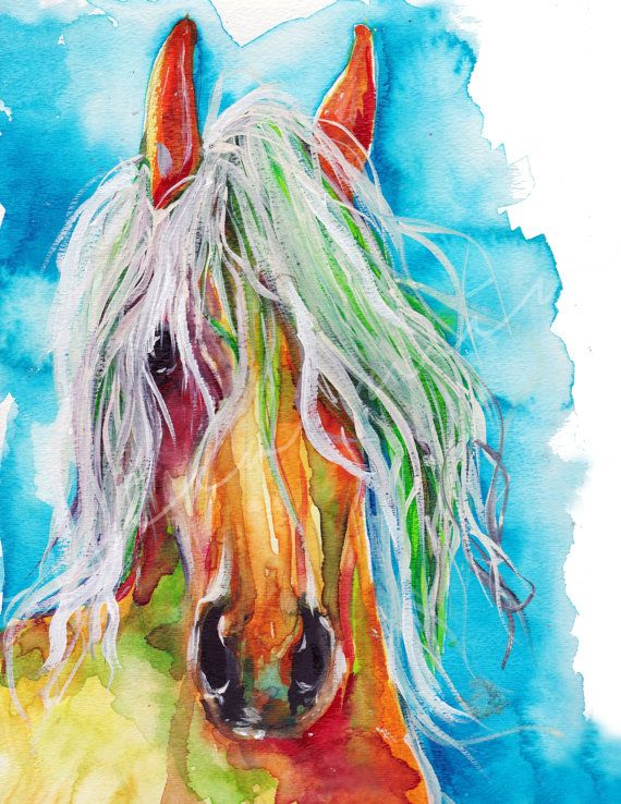 Wild horse Painting  Pony Print Wild Horse by JessicaMingoDesigns