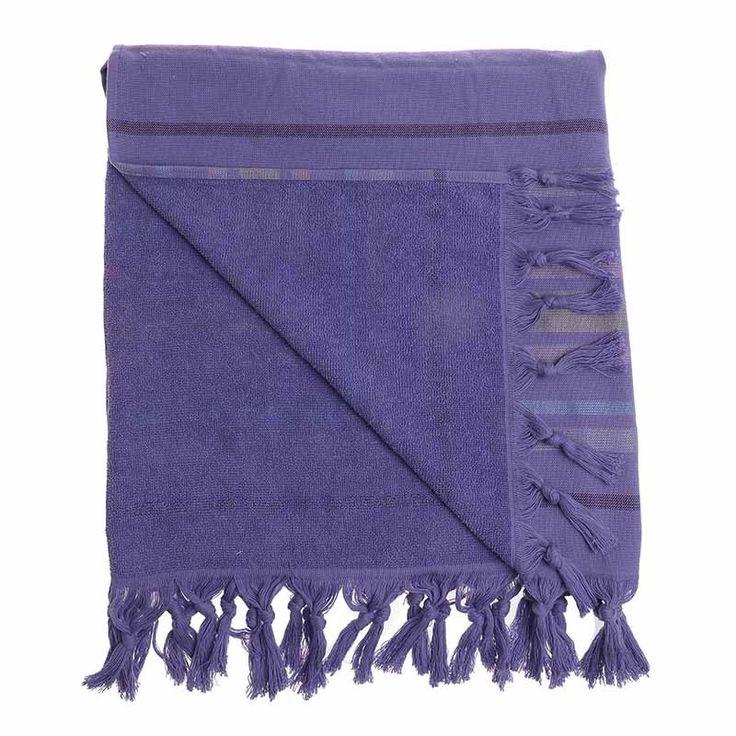 BODY TOWEL - PESTEMAL- PURPLE 75Χ160 (100% COTTON) - Towels