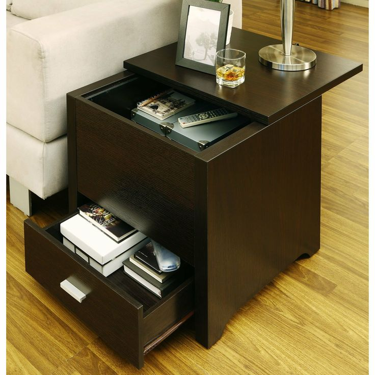 Delightful Furnituremaxx Vosseli Storage Trunk Style End Table : End Tables