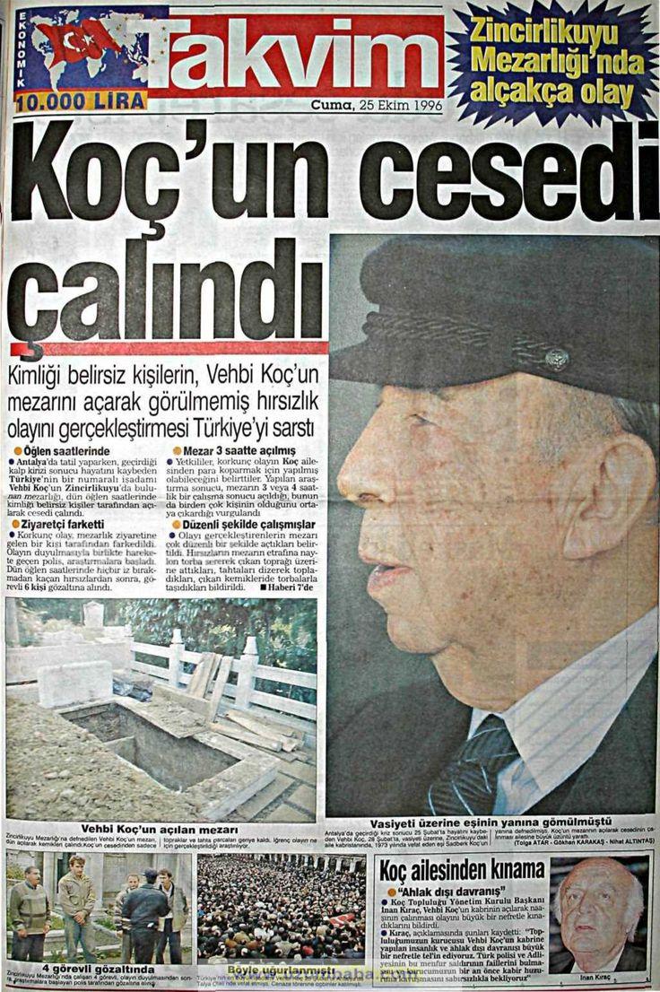 Takvim gazetesi 25 ekim 1996