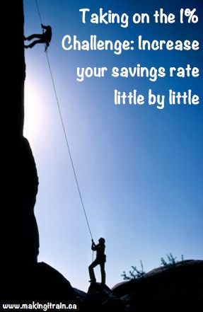 Increasing your savings can feel impossible.  The 1% challenge from Paula @ Afford Anything can help you scale up your savings a little at a time.