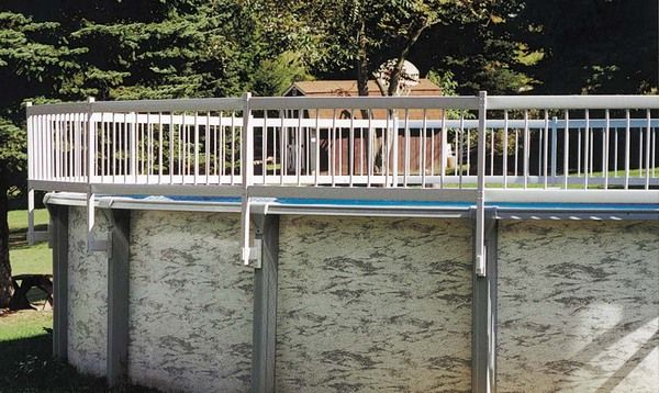 1000 ideas about above ground pool decks on pinterest for Above ground pool vinyl decks
