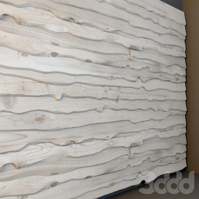 Панель из необрезной доски