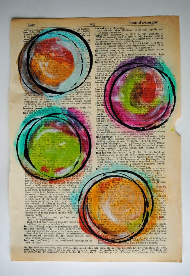 Circles painted with fingers!  Painted Circles Tutorial From:  Me, With My Head in the Clouds: