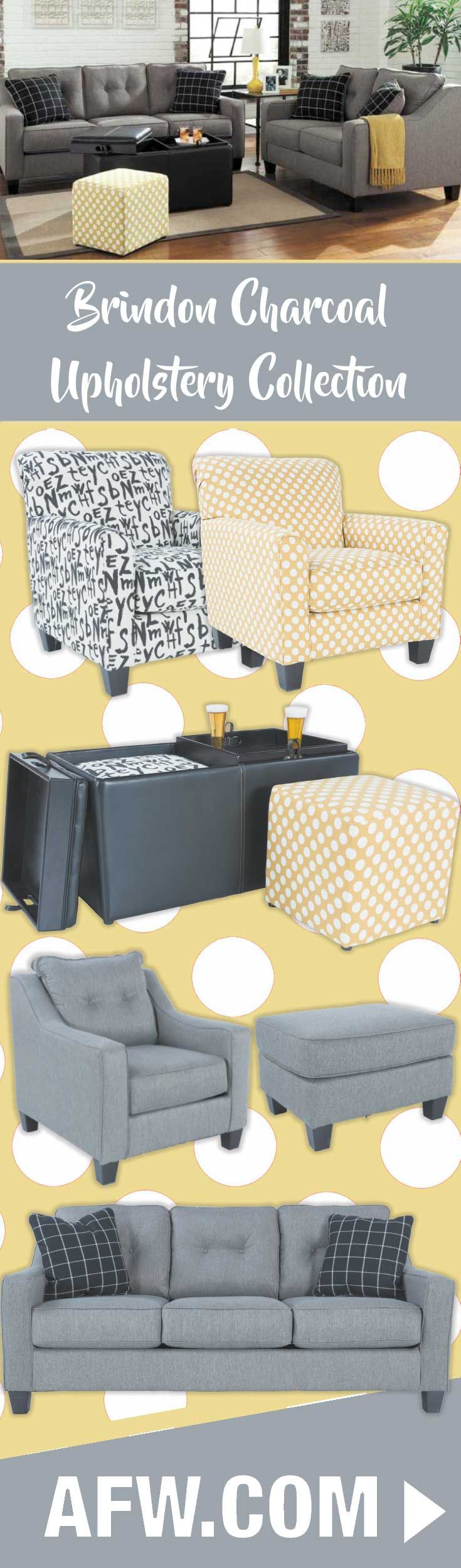 Contemporary canary colored accent chairs - The Plaid Pattern On The Accent Pillows Offers A Contemporary Feel While The White On Yellow Polka Dot Accent Chair