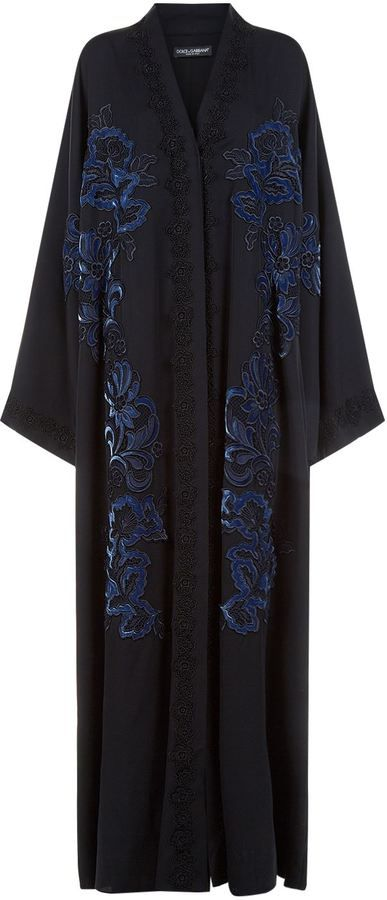Dolce & Gabbana Velvet And Lace Embroidered Abaya | Proud to be ...