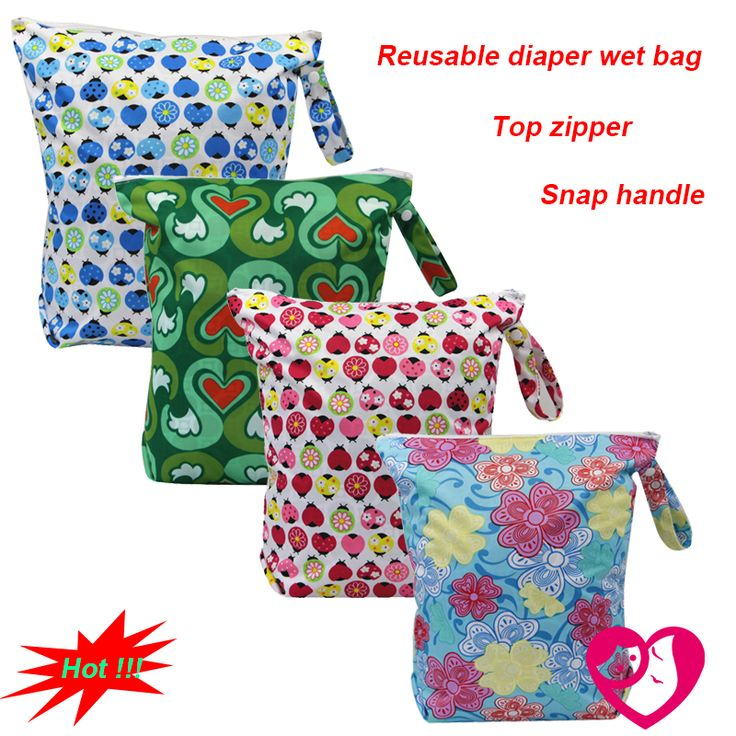 >> Click to Buy << 1PC Reusable Waterproof Printed PUL Diaper Wet Bag Double Pocket,Cloth Handle,33x40CM Wholesale Selling #Affiliate