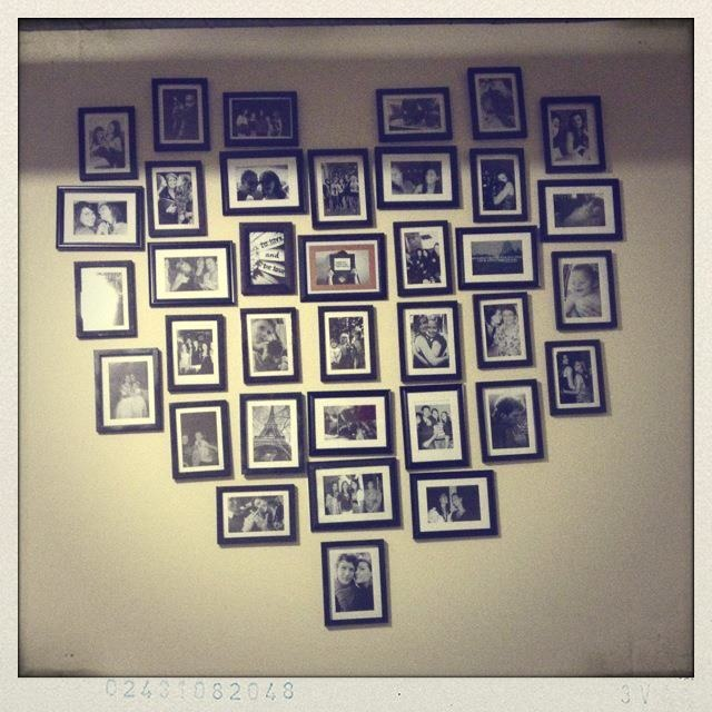 heart picture collage cool twist on the original but with frames! Would do but with white frames instead