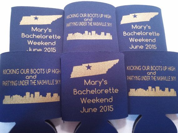 Country Bachelorette Party Can Coolers design 10009996147 Nashville lot of 12 to 25 personalized party favors Quick Ship-Stock art