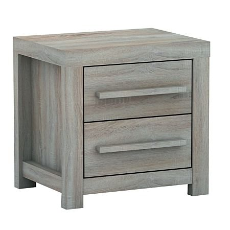 $91 from The Warehouse.  This one would work for both beachy or frenchy. Just pull out the bottom drawer and whack in a bit of  wood as a shelf to stick the sky box on Solano Stockholm Bedside Cabinet 2 Drawer