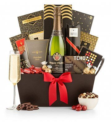Champagne Gift Baskets: Champagne and Chocolate Gift Basket