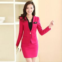 High quality wool Skirt Suits New 2015 Uniform designs Womens Business Suits Formal Office Work For Ladies Suits Blazer Skirts(China (Mainland))