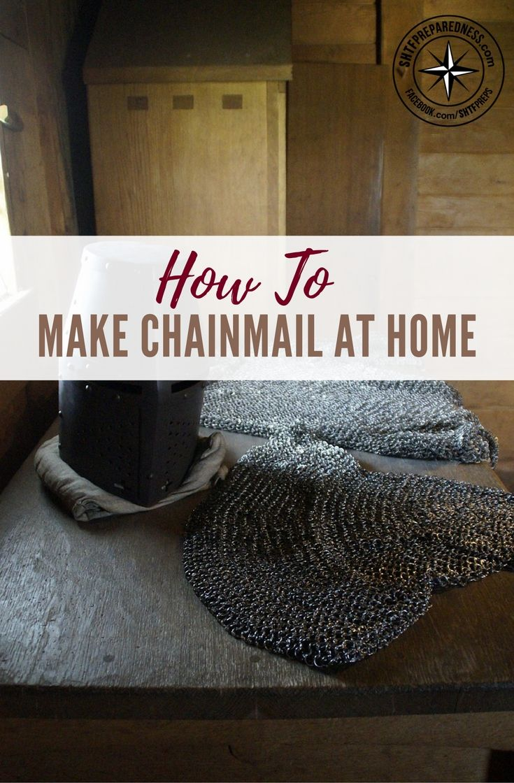 How To Make Chainmail At Home — Chainmail is relatively simple to do once you grasp the general idea, im not saying you forgo your bullet proof Armour for chain mail, but there is just something about chainmail that screams out MAKE ME!