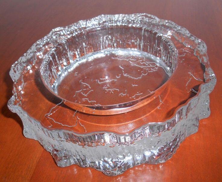 "iittala Aslak 6.5"" Glass Ashtray Candle Tray Mid Century Modern FINLAND WIRKKALA"