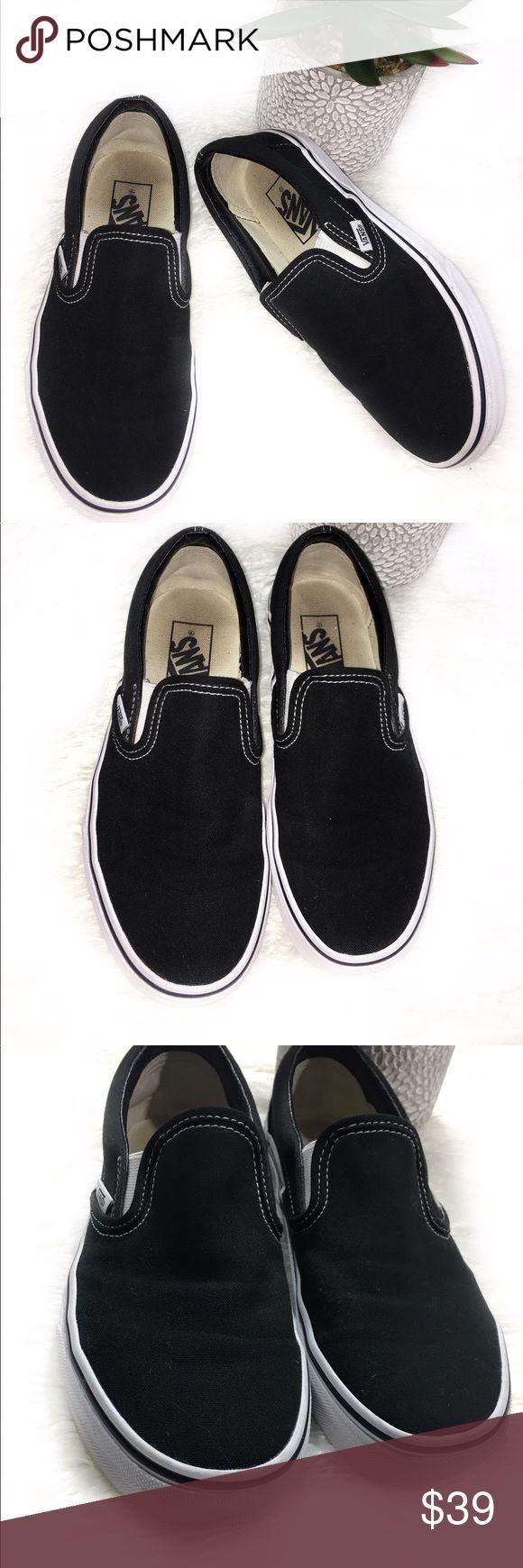 Vans Slip On Shoes Vans black slip on shoes in EUC no visible flaws. Vans Shoes Sneakers