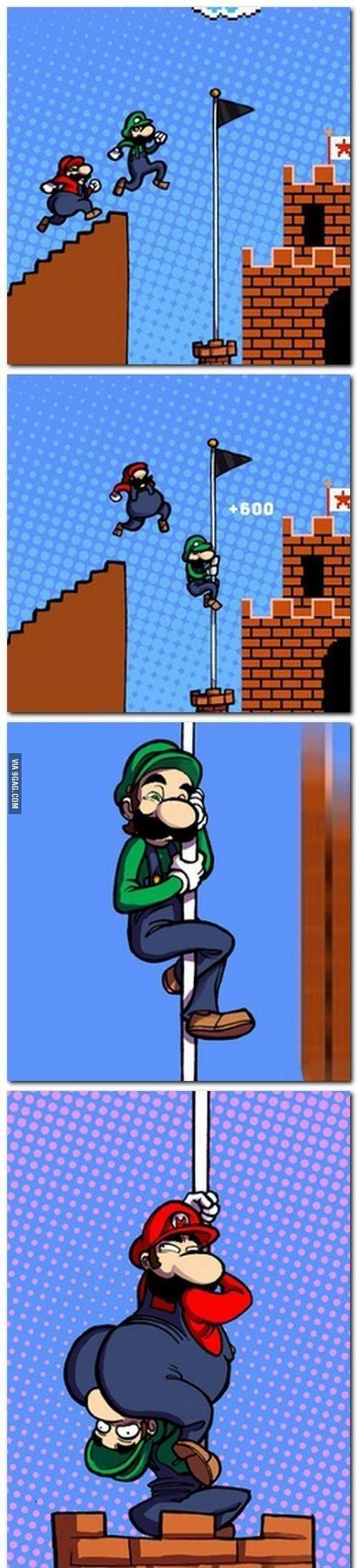 Scroll2Lol.com - Mario isnt good at pole dancing