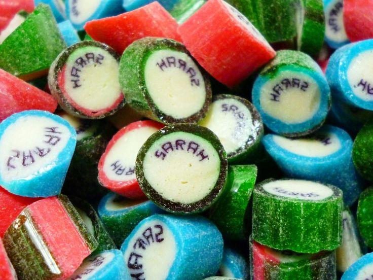 Caramelos artesanal personalizado con el nombre de Sarah. #CaramelosArtesanalesPersonalizados