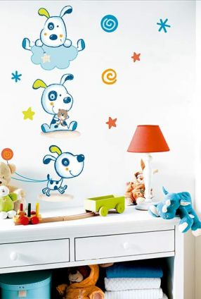 DECOILUZION - Pegatinas pared infantil Doggy