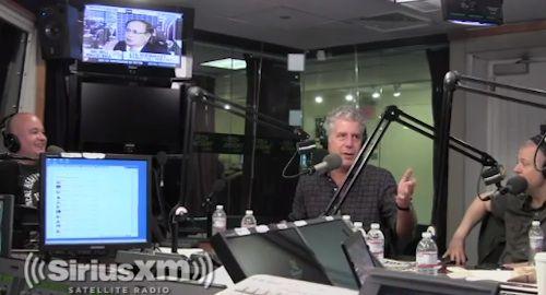 Watch Bourdain Rip Into Guy Fieri's NYC 'Terror-Dome'