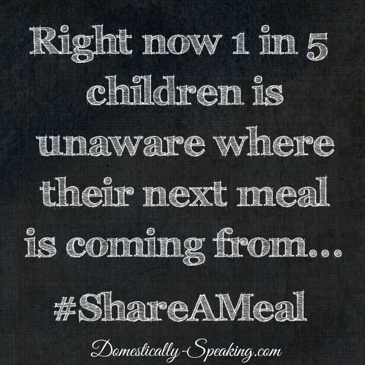 Help fight childhood hunger here in America! #ShareAMeal @UnileverUSA @feedingamerica