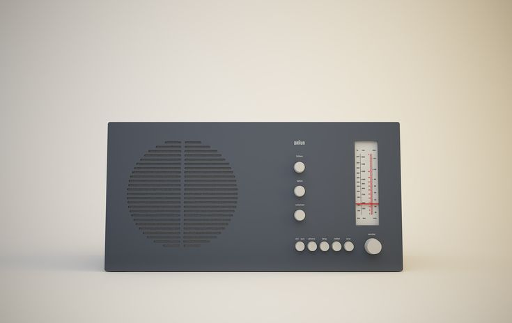 RT 20 tischsuper Radio, 1961, by Dieter Rams for Braun .