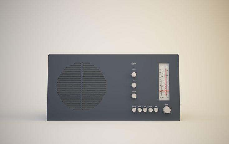 RT 20 tischsuper Radio, 1961, by Dieter Rams for Braun .