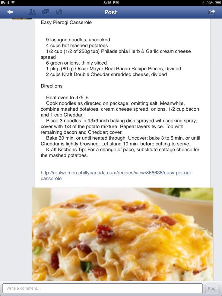 Easy perogie casserole