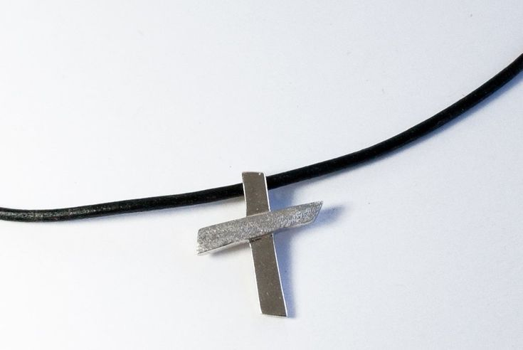 Hammered Silver Cross Sterling Silver texture cross handmade in Greece