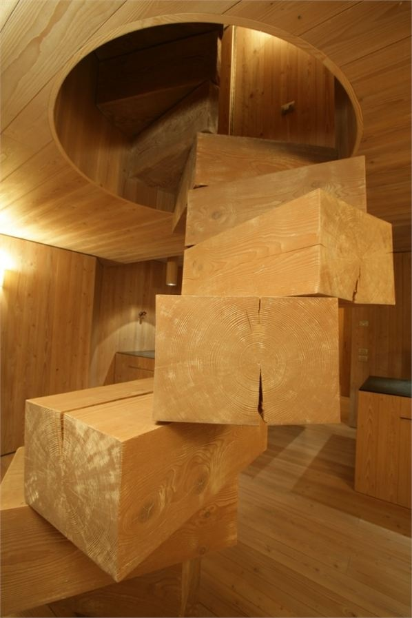Interesting .... wood block stairs- yes!