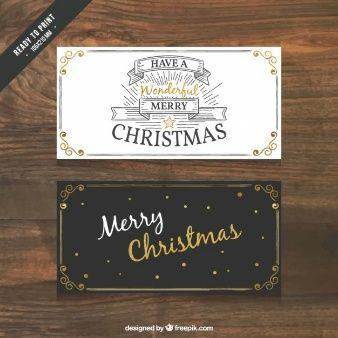 Natal retro cartão de visita