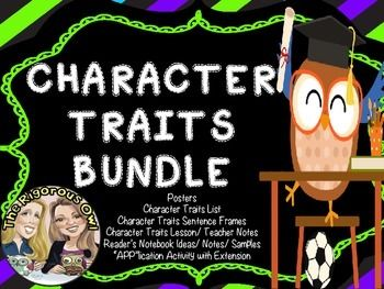 Need resources to teach CHARACTER TRAITS? Look no further! Here is Everything you need to Teach CHARACTER TRAITS! Here's What's Included:Character Traits Poster with definition and questions to consider A List of Character Traits (over 150)Character Traits Lesson for students to glue into their Reader's Notebook or Composition Books.