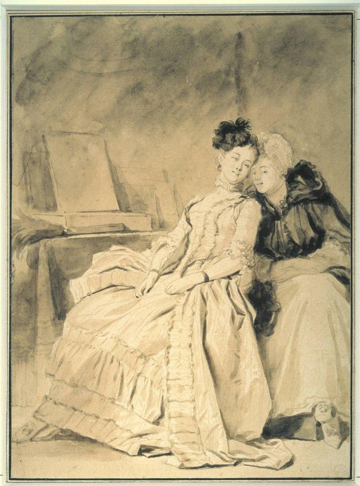 The Intimate Conversation - Jean-Honoré Fragonard, circa 1778-1780 | Collection Boijmans