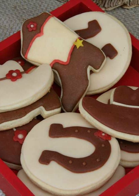 Cowboy birthday party cookies!  See more party planning ideas at CatchMyParty.com!