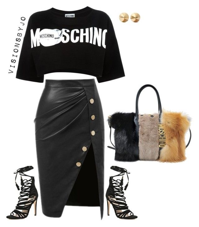 """""""Untitled #1398"""" by visionsbyjo ❤ liked on Polyvore featuring Moschino, River Island, Eddie Borgo, women's clothing, women's fashion, women, female, woman, misses and juniors"""