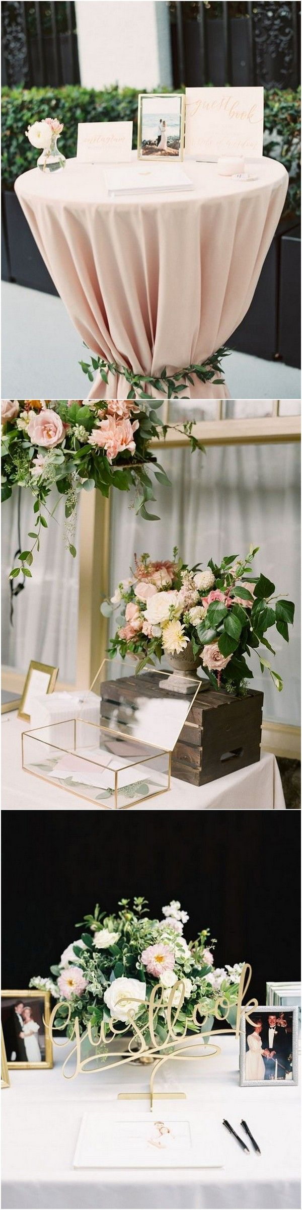 Wedding guest book sign in table decoration ideas #weddingideas #weddingdecor #weddingreception